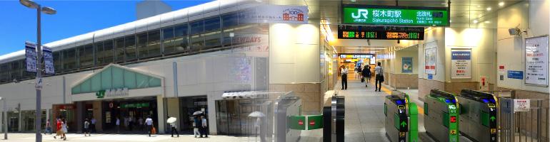 駅広告の風景